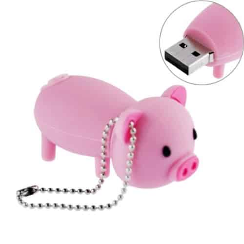 16GB USB Flash Drive Rubber Piggy Pig Shaped