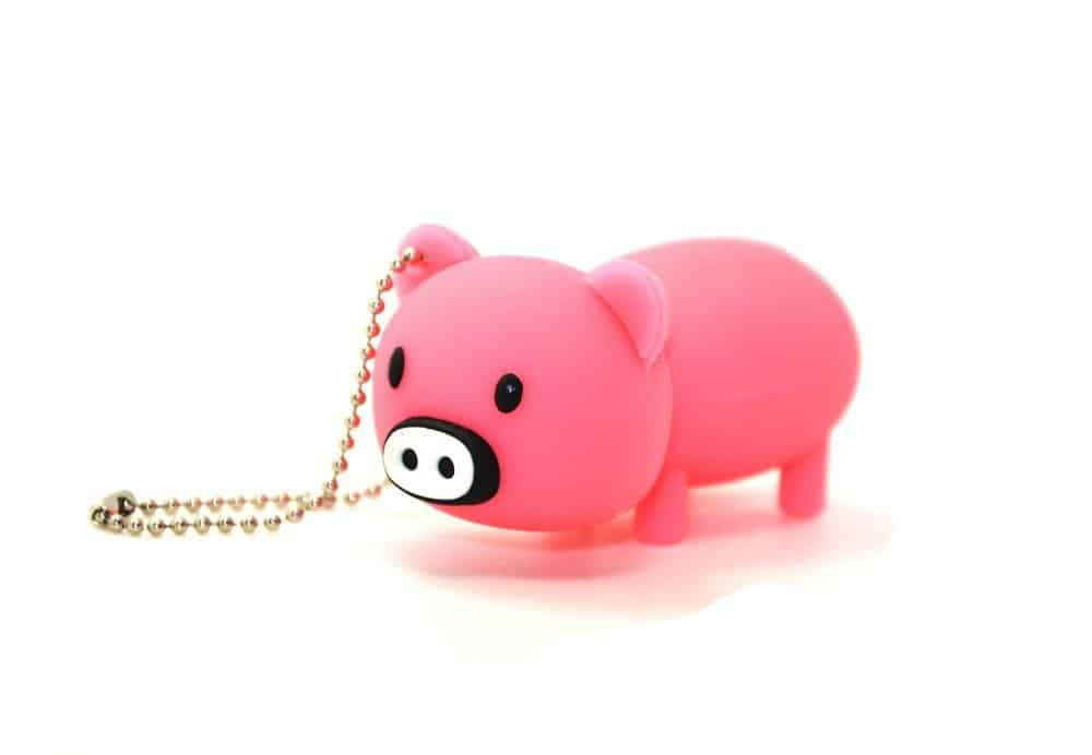 Cute Rubber Piggy Pig Memory Stick