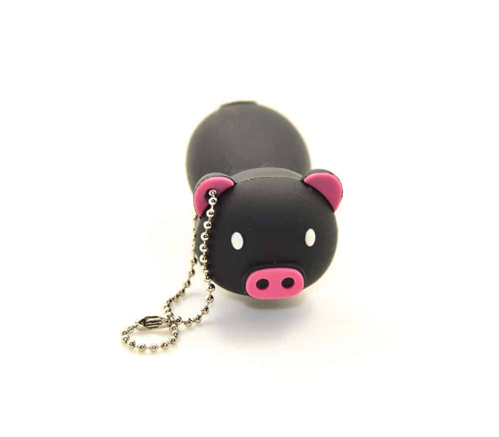 Black Pig Shape Pendrive
