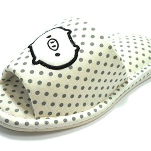 GREEN LIFE PIGGY PRINT HOUSE SLIPPERS White - The Piggy Store
