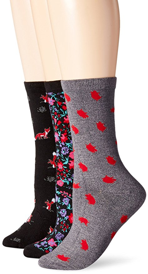 Jane and Bleecker Women's Winter Garden Fox Play Piggy 3PP BlackLight Gray Heather