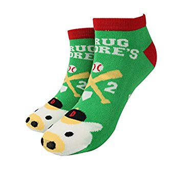 Ladies Green Pig Printed Ankle Socks for Spring Summer