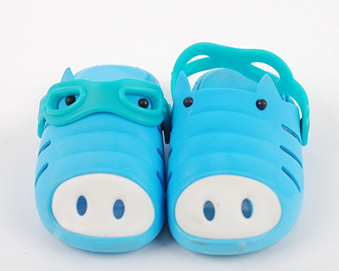Kids Water Sport Garden Clogs Shoes Pig Patterned Blue
