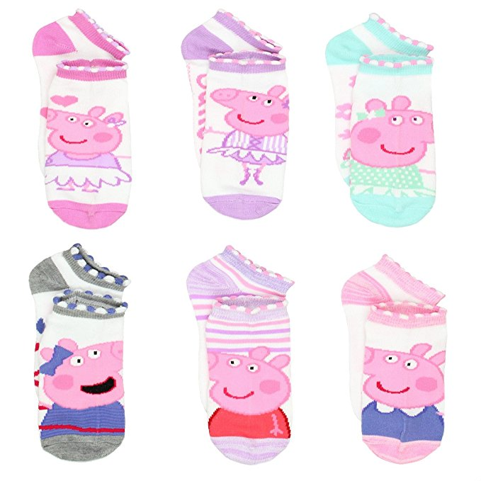 Peppa Pig Girls 6 pack Socks