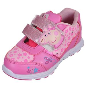 Peppa Pig Girls' Piggy Straps Light-Up Sneakers