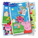 Peppa Pig On the Go Coloring Pouch Activity Set With Stickers, Coloring Pages, and Coloring Wheel – Also Included Is 1 Large Coloring Fun Sticker