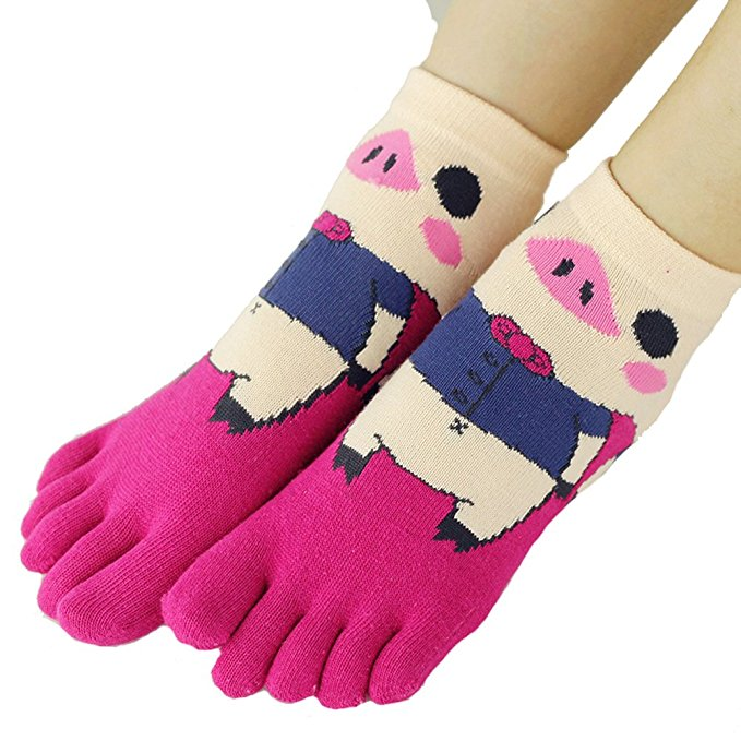 Pig print socks, Piggy Women's Novelty Sock, Little Piggy Women's Sock, pair of Pig print socks