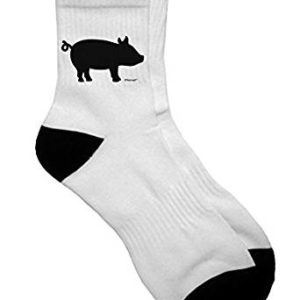 TooLoud Pig Silhouette Design Adult Short Socks