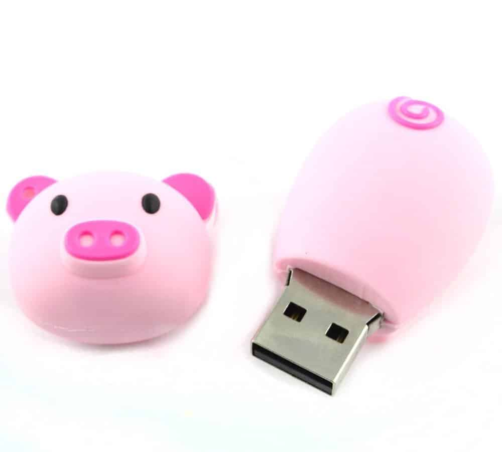 64gb Cartoon Novelty Pink Piggy USB Flash Drive Pendrive