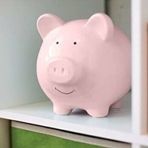 Small Cute Ceramic Coin Money Piggy Bank