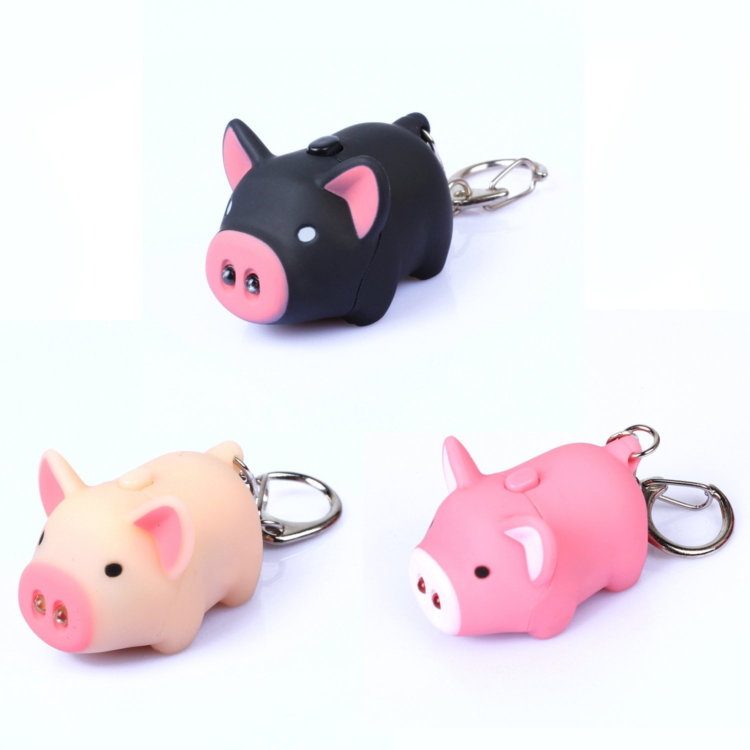 Oink Piggy Animal Keychain With Led Light And Sound The
