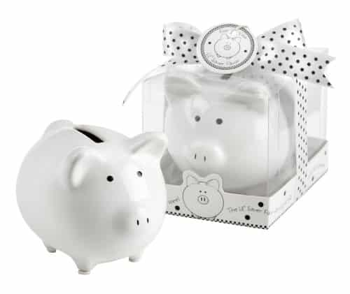 Ceramic Mini Piggy Bank in Gift Box with Polka - The Piggy Store