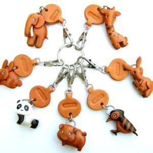 Pig Small Keychain VANCA CRAFT-Collectible Cute Mascot Made in Japan (8)