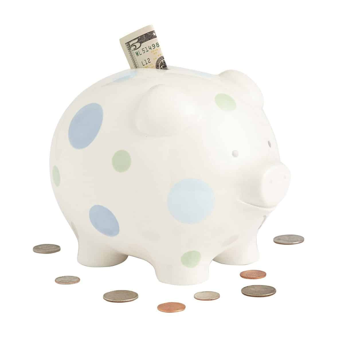 Buy Beginnings By Enesco Big Polka Dot Piggy Bank 7