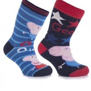 Cartoon Heroes Boys' 4 Pair Peppa Pig George Ankle Socks