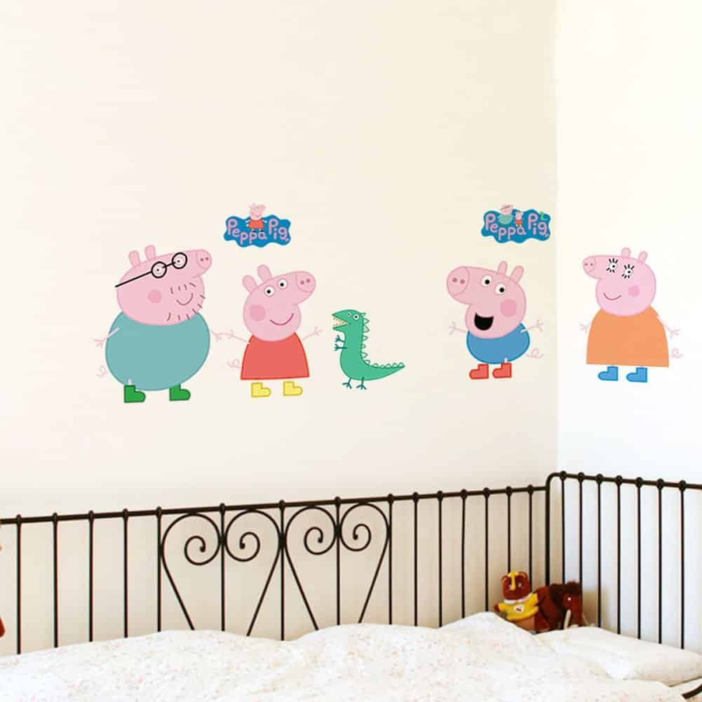 Fange DIY Removable Peppa Pig Wall Stickers Children Room