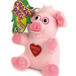 Just For Laughs Crazy Animals Keychain Pig