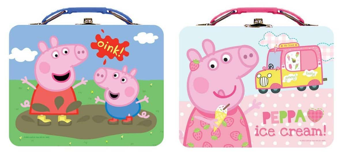Lunch Box - Peppa Pig - Metal Tin New (1 Style Only) tin887607-ast