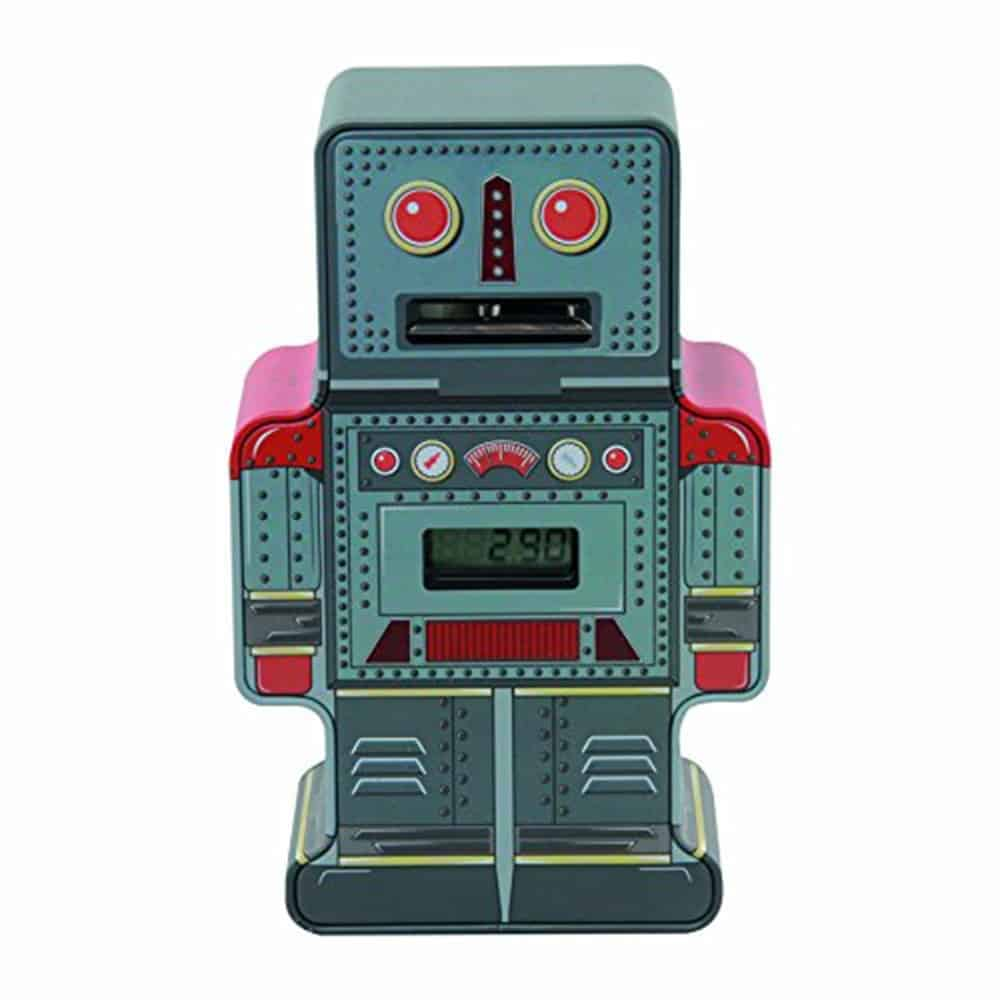 Paladone Tin Robot Counting Money Box