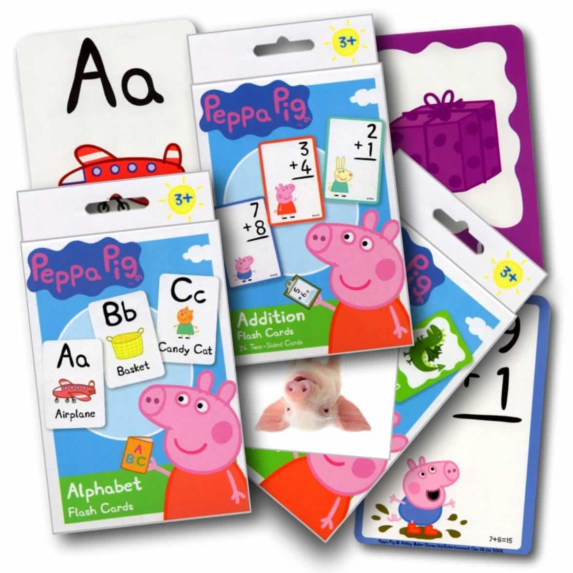 Peppa Pig Flash Cards Set (3 Pack) with Sticker