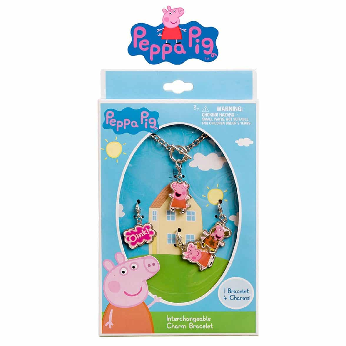 Peppa Pig Girls Add A Charm Bracelet Jewlery Set Silver Chain Charm Bracelet