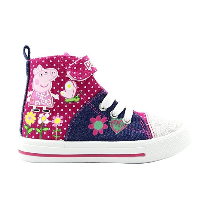 Peppa Pig - Girl's Glitter Hi-Top Sneakers (Toddler)