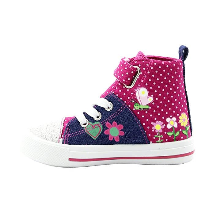 Deliver Your Child Peppa Pig Girls Glitter Hi Top Sneakers