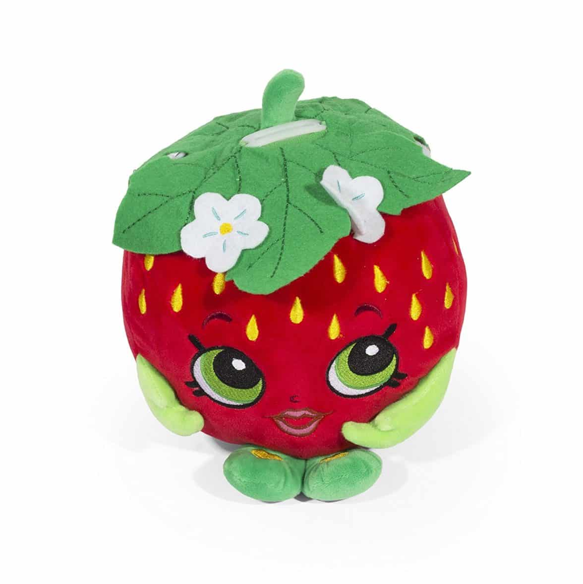 Shopkins Strawberry Kiss Plush Coin Bank