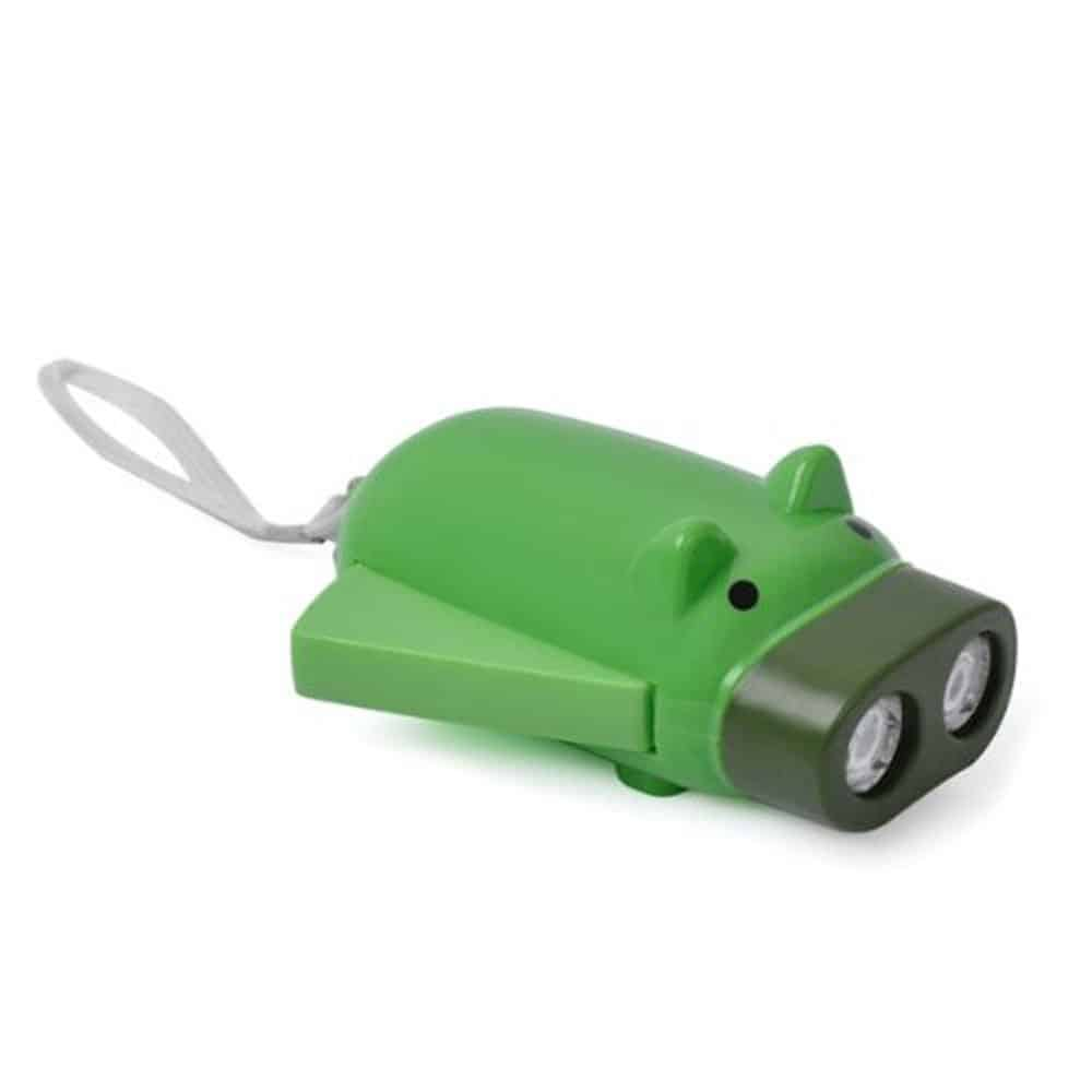 TOOGOO(R) Mini pig hand pressure key chain LED Flashing light Flashlight with 2 LED (random color)