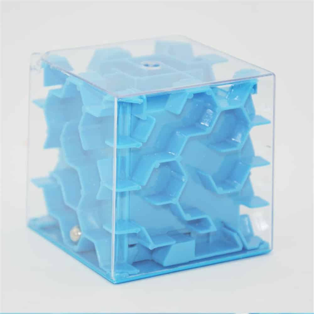 Goodplay Mini 3D Money Box Creative Labyrinth Piggy Bank, Money Maze Cube Bank, Maze Puzzle Box Unique Brain Teaser Puzzles Games Children Gift (Blue)