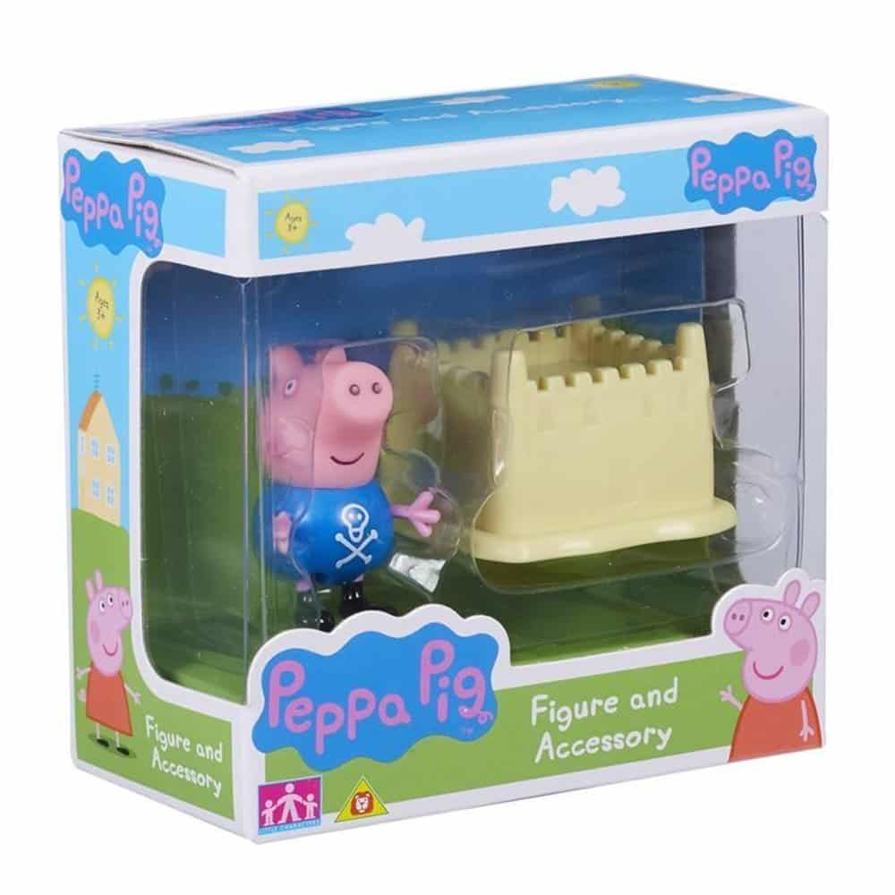Peppa Pig Figure & Accessory George & Sandcastle Set
