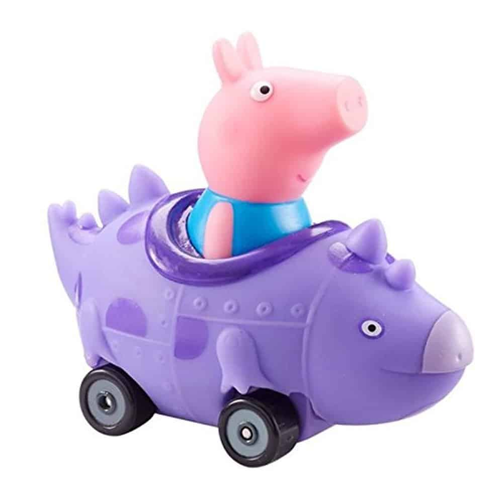 Peppa Pig Push Along Mini Buggies George In Dinosaur Vehicle