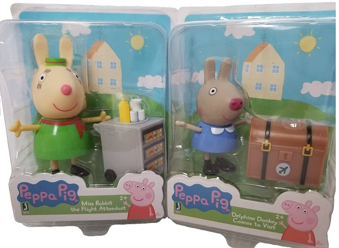 Set of 2 ~ Miss Rabbit the Flight Attendant and Delphine Donkey Comes to Visit