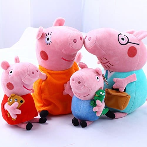4Pcs Family Plush Doll Stuffed Toy 12 DADDY MOMMY 8 PEPPA GEORGE - BundleBulk Buy