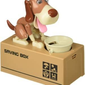 Oliasports Cute Stealing Coin Dog Money Box Piggy Bank
