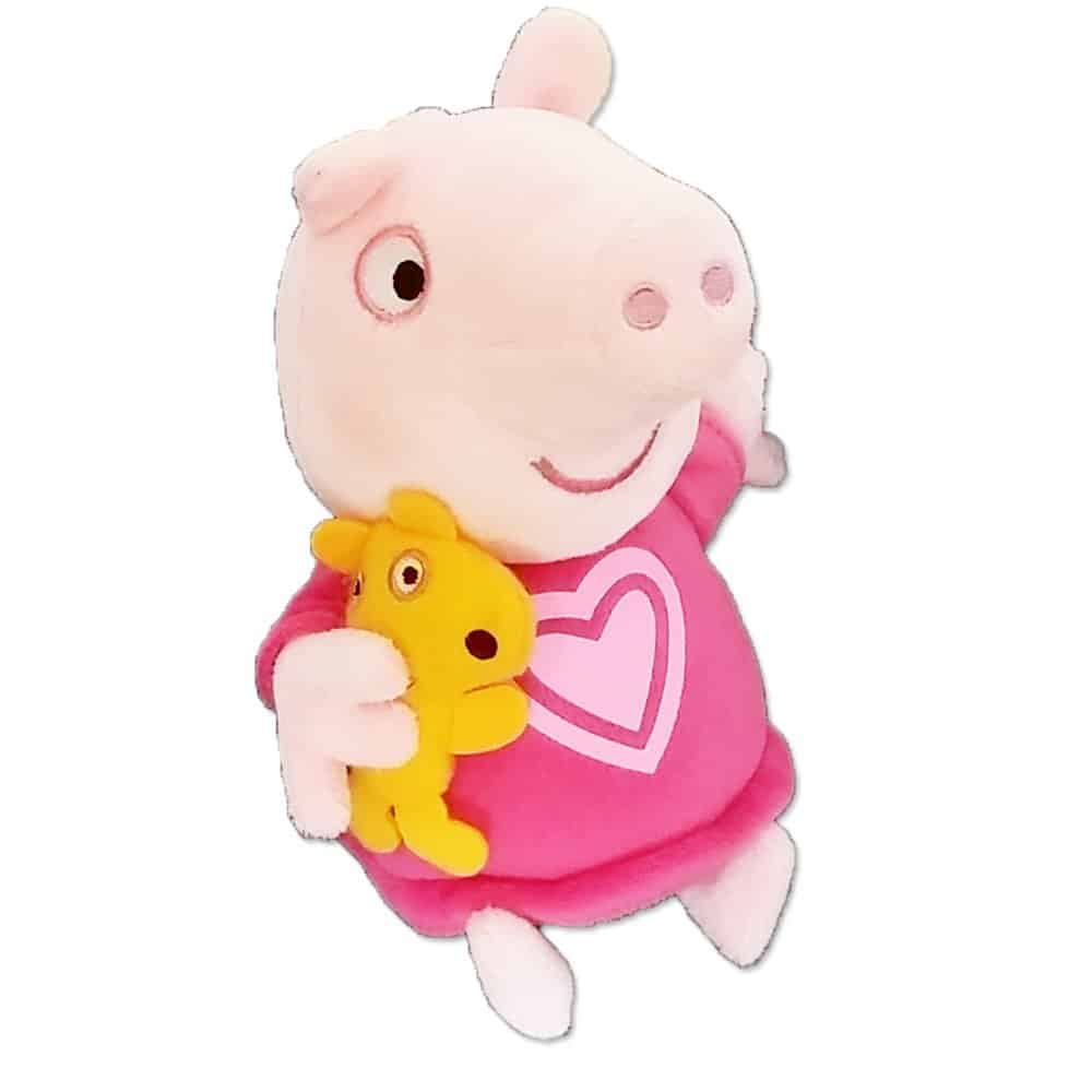 Peppa Pig 18cm Talking Bedtime Peppa With Teddy Soft Plush Toy
