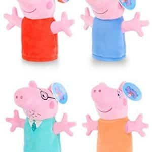 Rctoyer Trendy New Eco Smooth & Soft PP Cotton Kids Children Entertainment Hobby Playsets Hand Puppet Peppa Pig Family Doll Plush Toys Set 4
