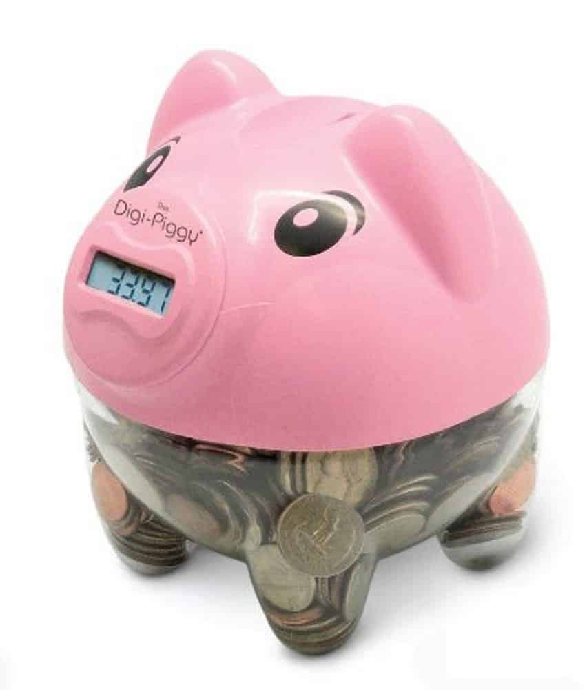 The Digi-Piggy Digital Coin Counting Bank (Pink)
