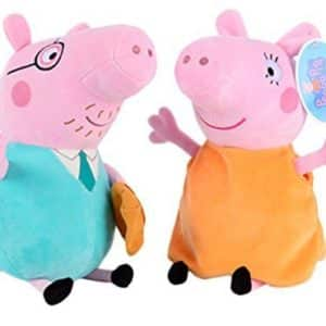 Trans-toys Crystal Eco Smooth & Soft PP Cotton Kids Children Entertainment Hobby Playsets Puppet Peppa Pig Father & Mother Plush Toys Set 2