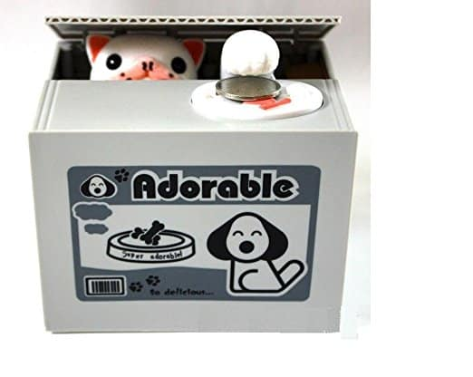 Virtuous Stealing Lucky Coin Bank Cool Gadgets Panda Piggy Bank, Electronic Dog
