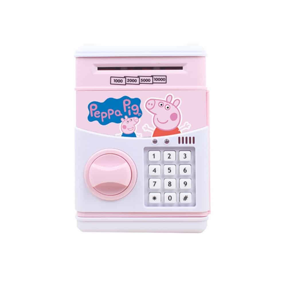 Electronic ATM Piggy Banks Save Money Coin Bank Coin Box With Lock & Secret Code To Unlock for Password Great Gift Toy for Children Kids (Pink pig)