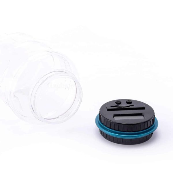 Hughapy digital coin saving money box jar automatic clear electronic counting piggy bank - Counting piggy bank ...