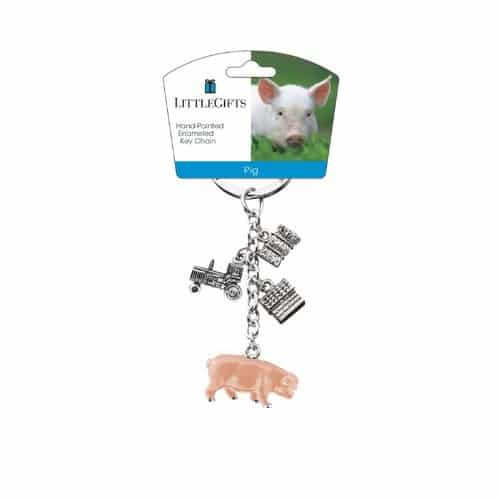 LittleGifts Key Chain, Pig Farm Animal