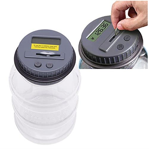 Tangc Automatic Counting Clear Digital Coin Saving Money Box Jar Electronic Piggy Bank