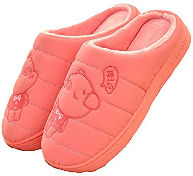 D.S.MOR Women's Piggy Winter Shoes Warm Slippers Home Slippers Watermelon Red