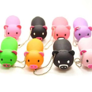 16GB USB 2.0 Flash Drive Rubber Piggy Pig Shaped Memory Stick