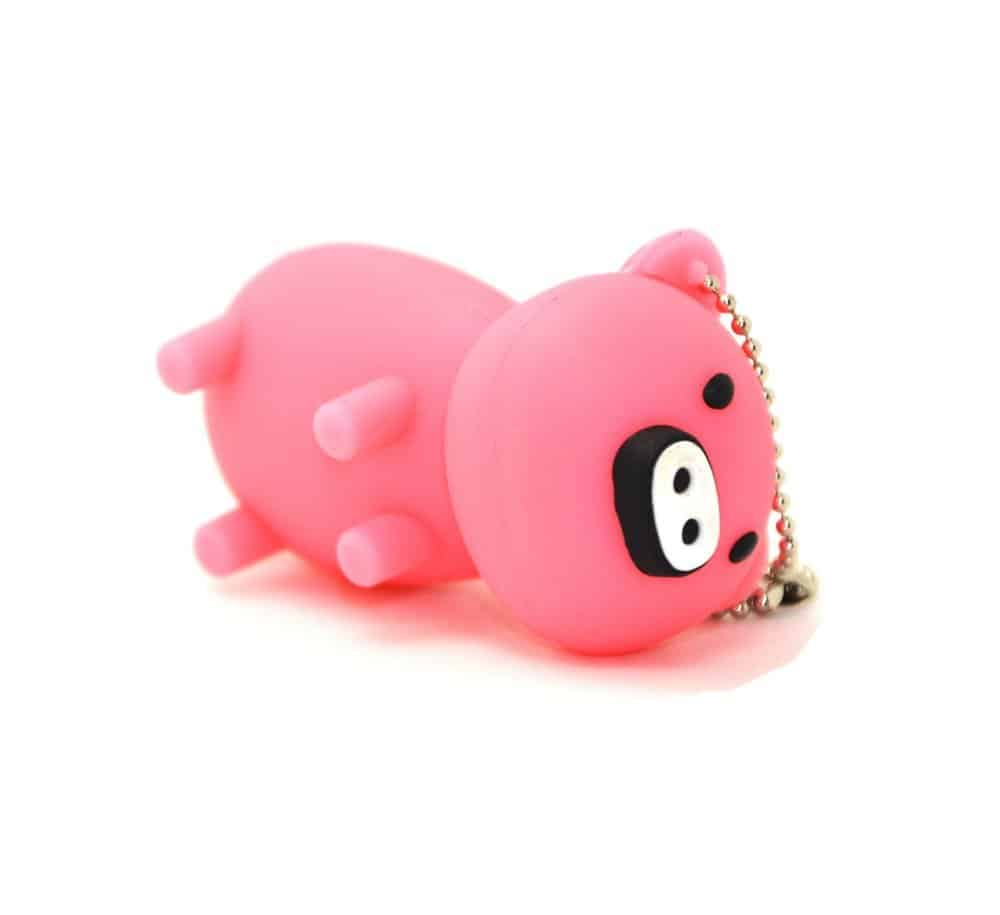 Pink and Black Pig 16GB USB Flash Drive Memory Stick