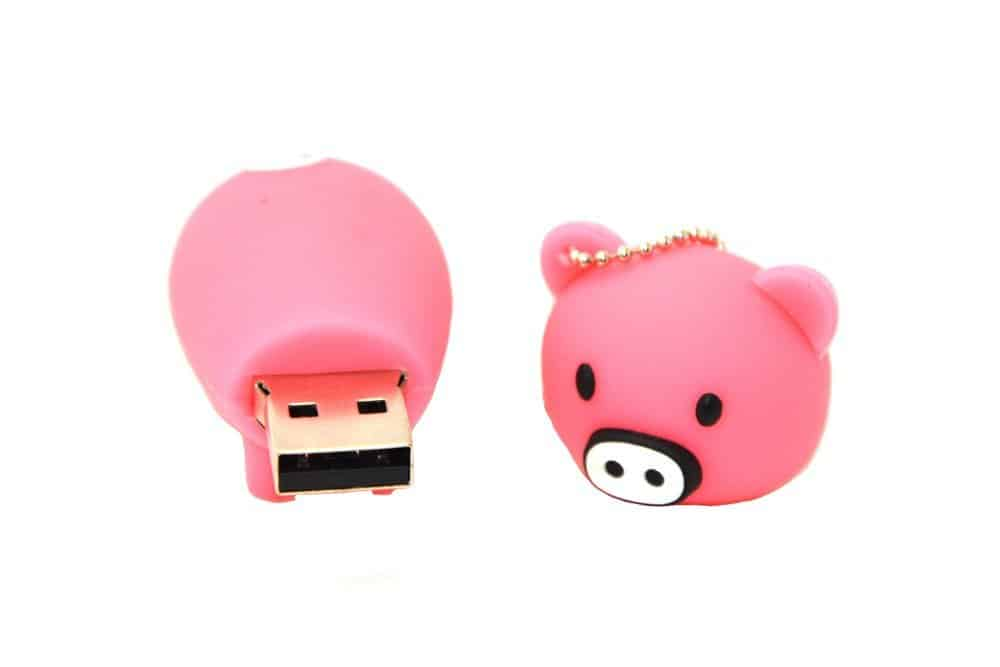 Pink and Black Pig 32GB USB Flash Drive Memory Stick