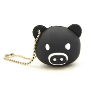 32GB USB2.0 Memory Flash Stick Black Pig with White Mouth
