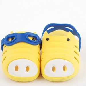 Ozkiz Girls Children Kids Water Sport Garden Clogs Shoes Pig Patterned Yellow